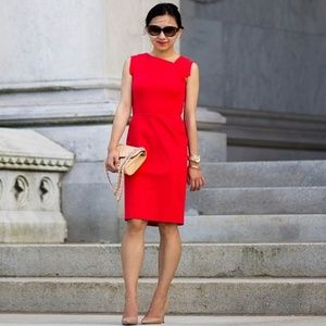 J. Crew Red Promotion Body Con Dress Size 2